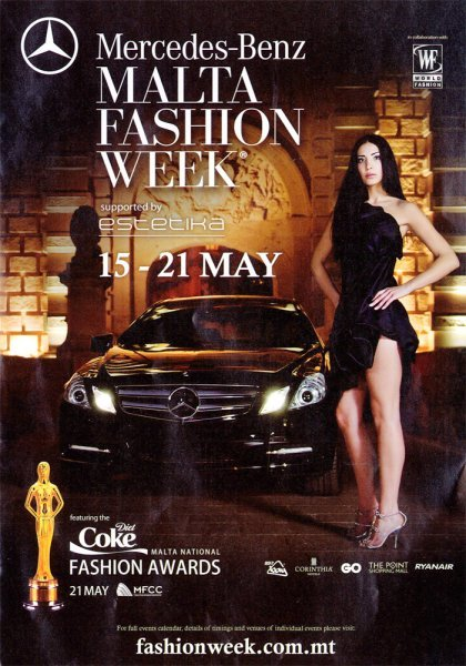 malta fashion week awards the mercedes benz malta