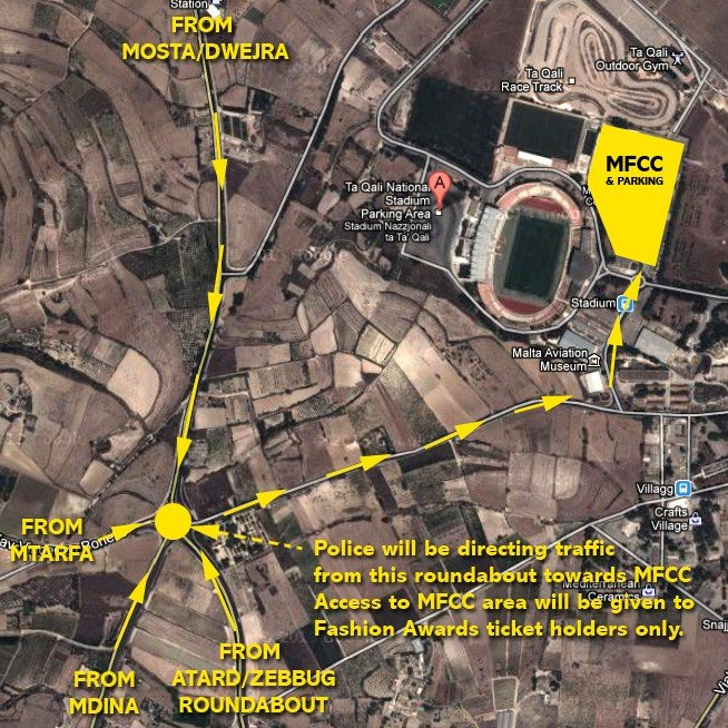 MFCC traffic arrangements map